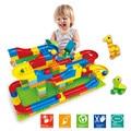 1 Unidades run bola rodante ferroviario ladrillos bloques de construcción enlighten duplo legoed trayectoria de aprendizaje educación juguetes para niños compatibles