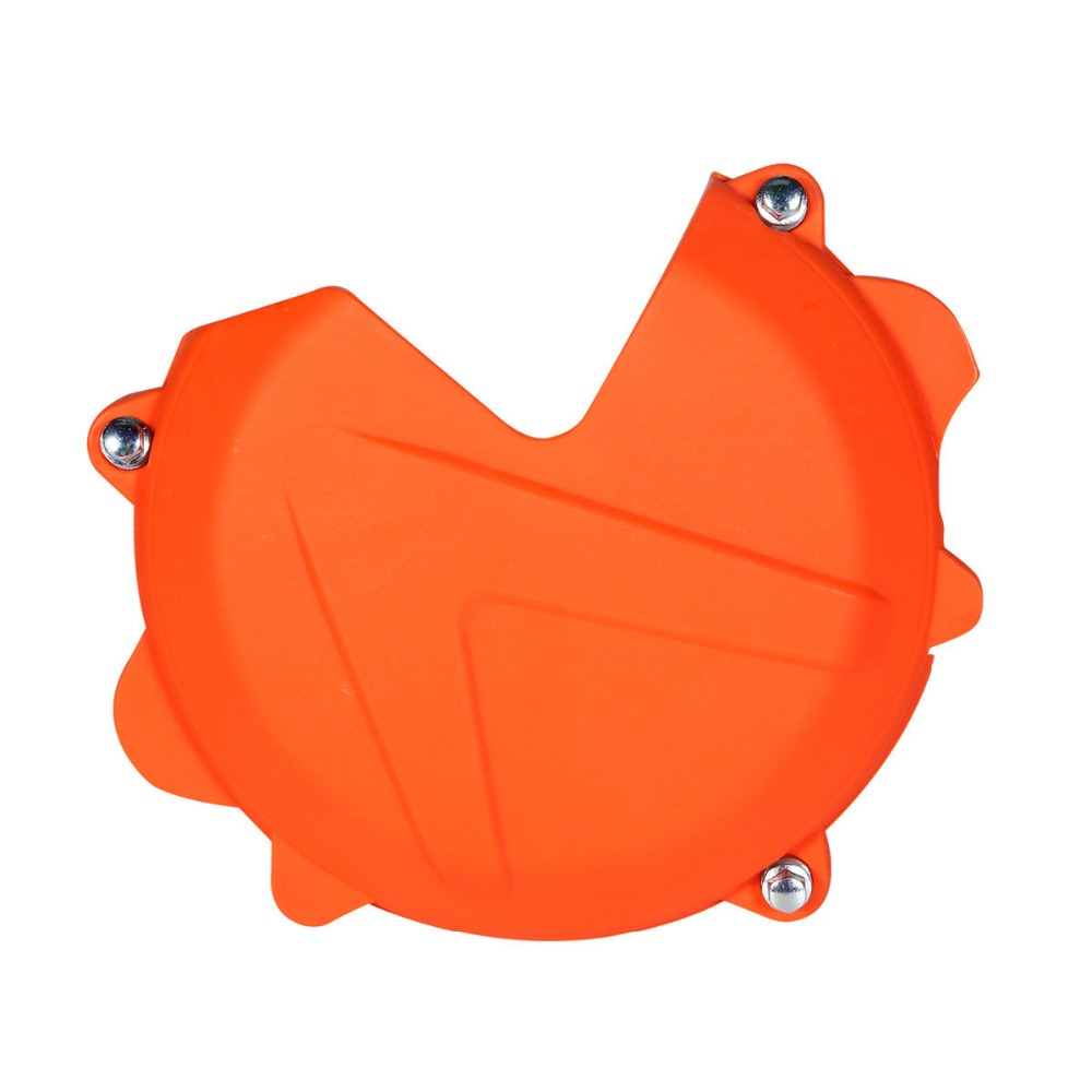 Motorcycle Orange Clutch Case Cover Guard Protector For KTM 250 300 EXC SX XC XC-W 2013-2016(China)
