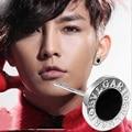 Hombres estrella pendientes de una sola 1 cm plata plateó stud pendientes brincos boucle d'oreille femme para boy friend regalo de cumpleaños
