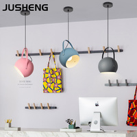 JUSHENG Modern LED Pendant Lights Colourful Dining Room Restaurant Pendant Lamps Electric Wire Home Decor Lighting