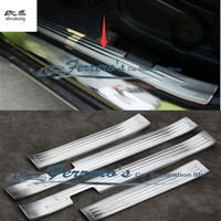 Free shipping for Suzuki S.CROSS stainless steel scuff plate inside door sill 4pcs/set high quality