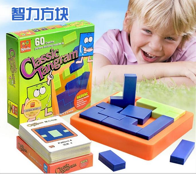Klassisk Tangram Puslespil Børn IQ Mind Brain Teaser Uddannelses puslespil Spil til børn