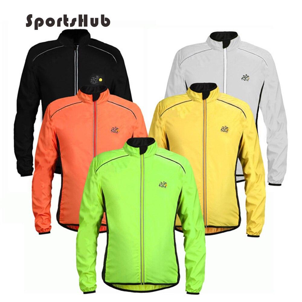 SPORTSHUB fényvisszaverő lélegző ultra könnyű kerékpáros dzseki esőálló szélvédő kabát kerékpár Jersey kerékpáros kabát C0012