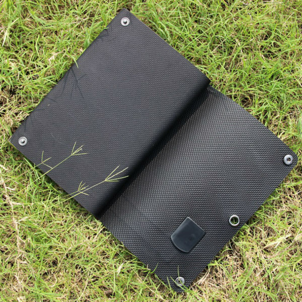 ФОТО Hot 6W 5V Foldable Solar Cell Charger Amorphous Silicon Portable Solar Panel Charger Waterproof 2PCS/Lot Free Shipping