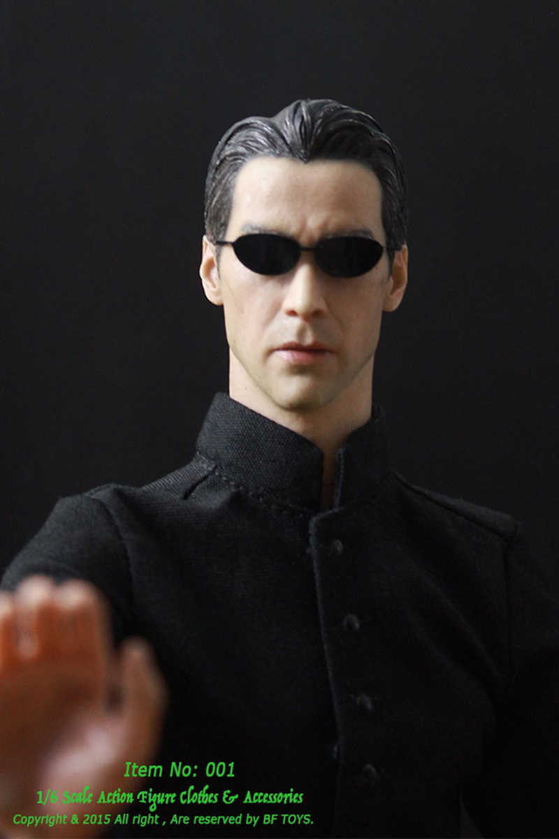 Detail Feedback Questions About 16 Scale Model The Matrix Neo Keanu Reeves Black Coat -9337