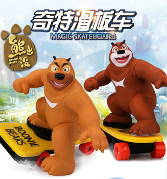 Novel Bear haunt electric rc Scooter Balance car toy model slide rotate clasic film theme remote control toy
