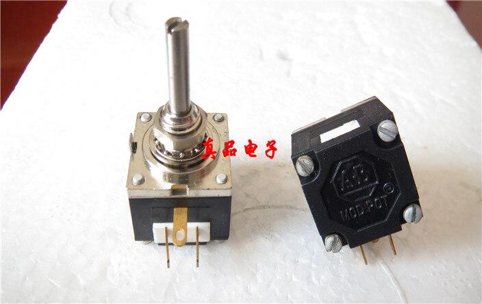 [CK] 10 K importé AB M-10K-OHM pieds plaqués or potentiomètre unique poignée longueur 19mm 19*3mm ouverture 6 MM interrupteur