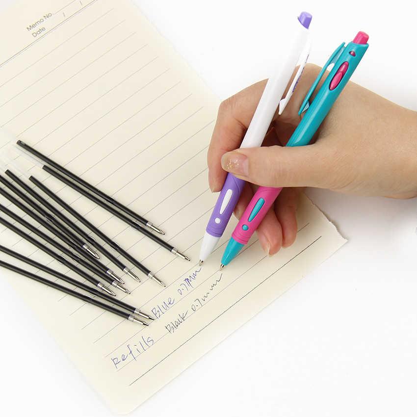 30 sztuk/partia ogólny długopis wkład do pióra wysokiej jakości wkład czarny niebieski 0.7mm Bullet Refill Office School Supplies
