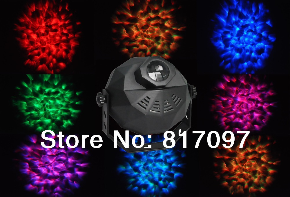 9W water wave led dj effect light rgb led disco light effect dmx 220V 5CH stage lighting effect for Disco Clubs KTV Pub Bar minn kota mk55em