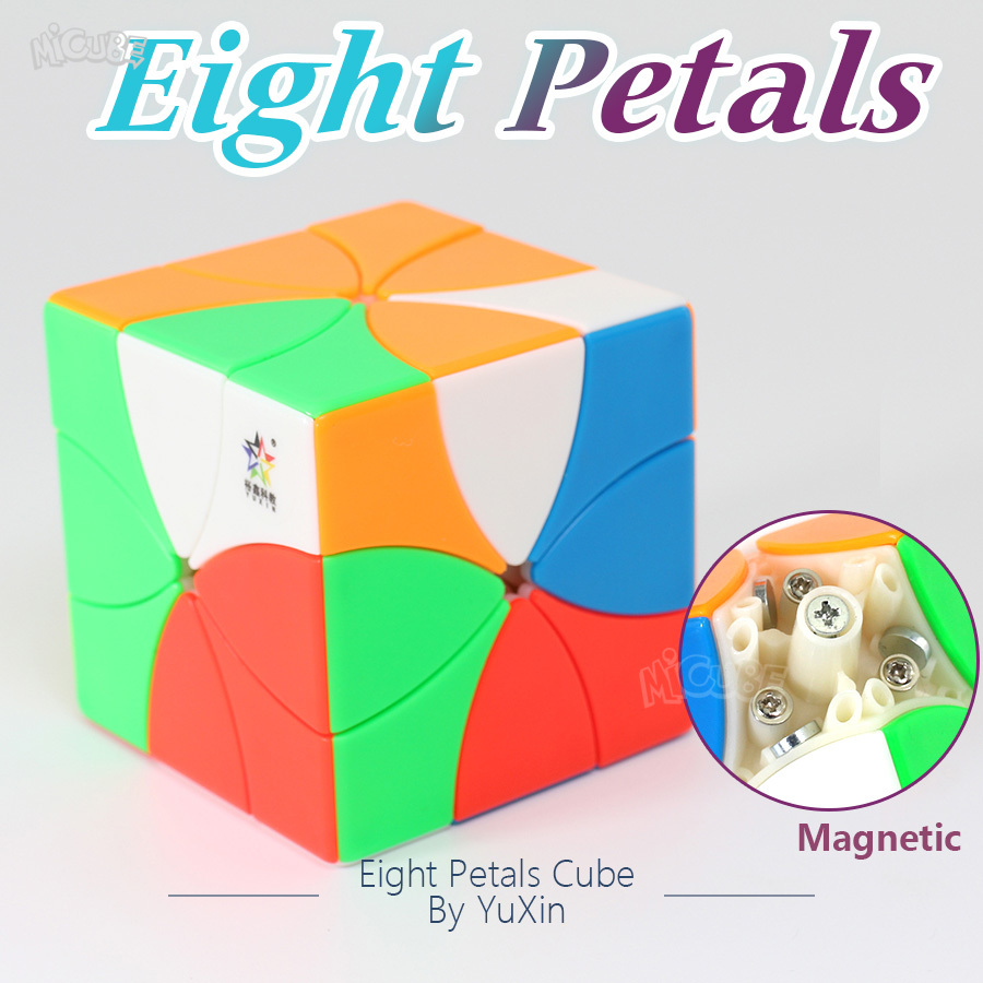 Yuxin Eight Petals Cube Magnetic Magic Cube Stickerless Specail Redi Shape Professional Twist Puzzle Gift Boy Kid Toys