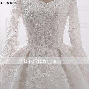 Image 4 - EBDOING Wedding Dress Ball Gown Sweetheart Neckline Chapel Train Custom Made Plus Size Bridal Gown Vestidos De Novia