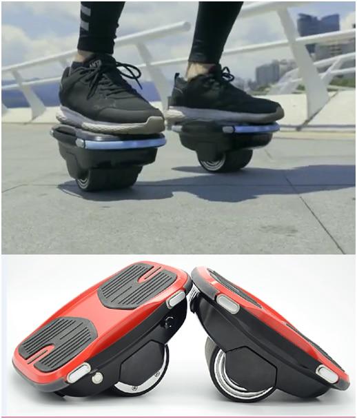 SUPERTEFF nouveau 2018 électrique overshoose scooter chaussures Auto Équilibrage Intelligent seule Roue Portable Hoverbot clignotant Skate Shoose