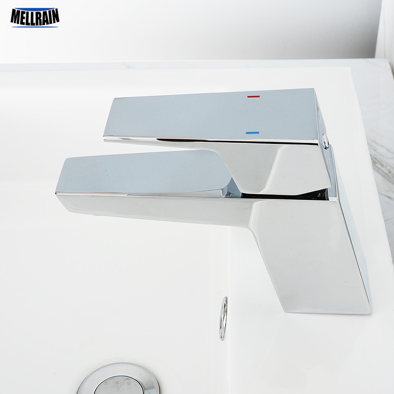 100% Solid Brass Chrome Bathroom Basin Water Tap Polished & Chrome Plated Bathroom Faucet Casting Quality Water Mixer