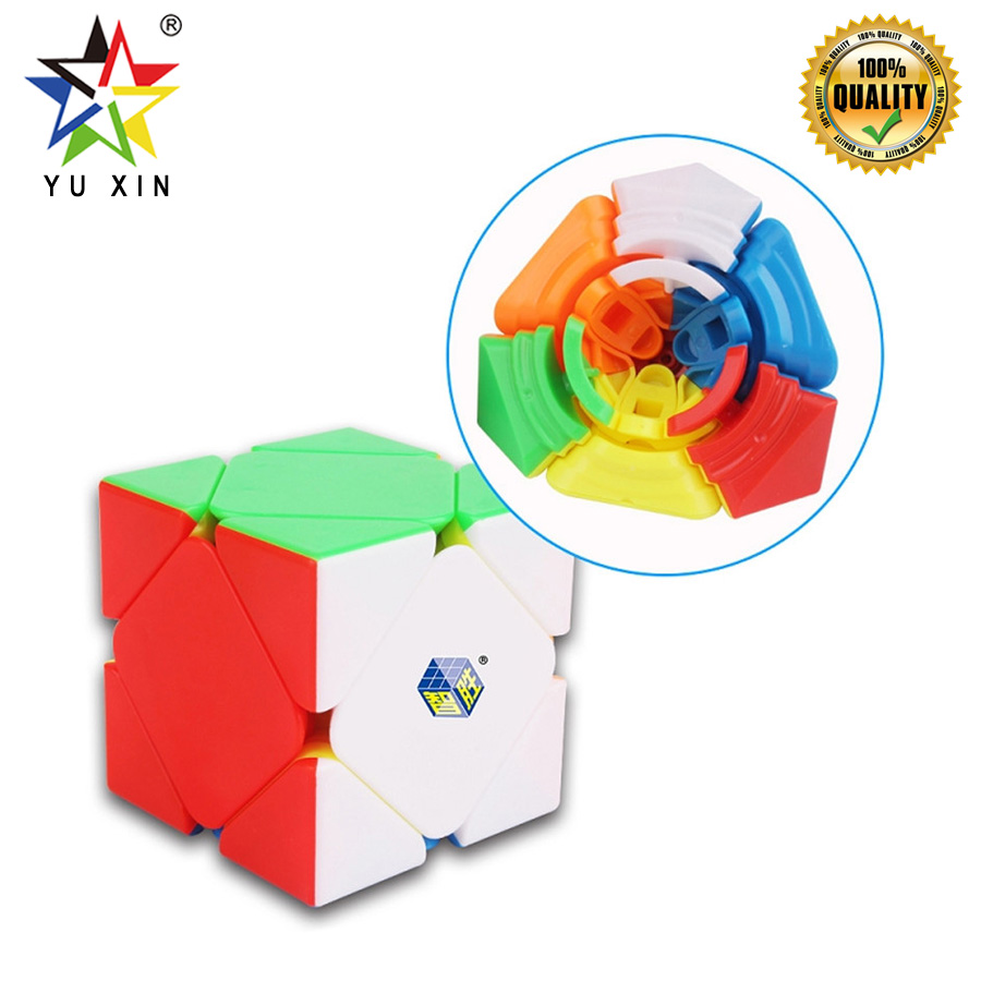 2019 YUXIN BLACKKYLINSKEWB 2x2 Speed Cube Stickerless 56mm Magic Cube New Year Gift Puzzle Toys For Children SKEW Cubo Magico
