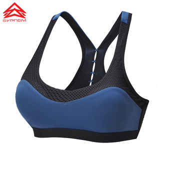 SYPREM seamless sports bra women sexy mesh back bra no steel ring breathable yoga brand underwear push up sports bra,1FT1070 10