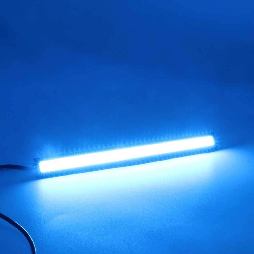 1 قطعة النهار تشغيل أضواء ل سيارة للماء 17 سنتيمتر 6 W 12 V العالمي COB DRL LED مصباح سيارة الخارجية أضواء السيارات سيارة التصميم