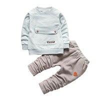 2017 Children Boys Clothing Set Autumn Spring Cotton Long Sleeve T Shirts Pants 2pcs Set Kids