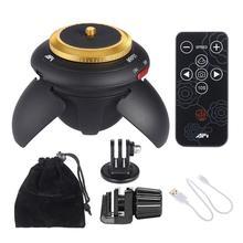 ALLOET, nuevo minitrípode con Bluetooth y control remoto eléctrico, cabeza panorámica con giro de 360, cabeza de trípode para Cámara de Acción GoPro, palo de Selfie