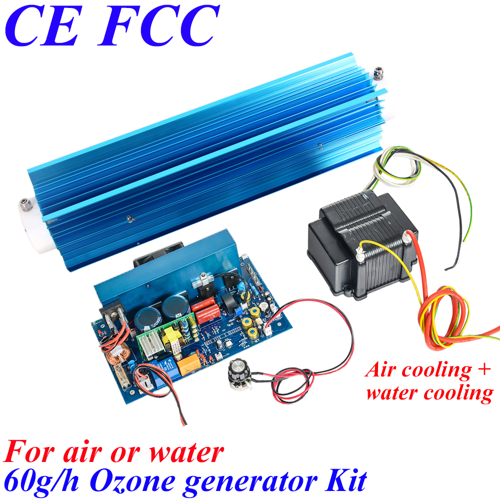 Pinuslongaeva CE EMC LVD FCC 60g/h Quartz tube type ozone generator Kit drinking water ozonator new air purifier medical