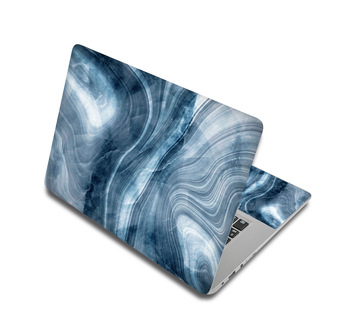 Blue Gray Marble Laptop Skin Sticker For Laptop And MacBook 1