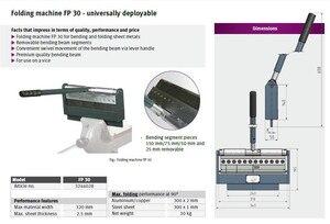 Image 2 - FP30 manuel ÇELİK TABAKA bükme makinesi, bateRpak çelik/galvaniz/alüminyum/sac bükme makinesi (ihracat almanya kalite) hiçbir kelepçe