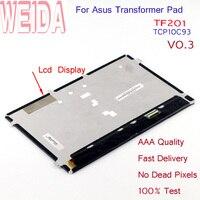 WEIDA HSD101PWW2 Display LCD Peças de Reposição Para Asus Transformer Pad TF201 TCP10C93 V0.3