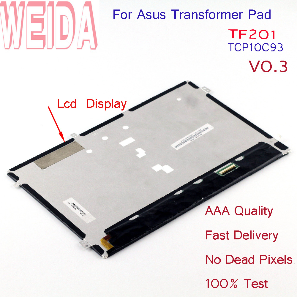 WEIDA HSD101PWW2 LCD Display Replacement Parts For Asus Transformer Pad TF201 TCP10C93 V0.3WEIDA HSD101PWW2 LCD Display Replacement Parts For Asus Transformer Pad TF201 TCP10C93 V0.3