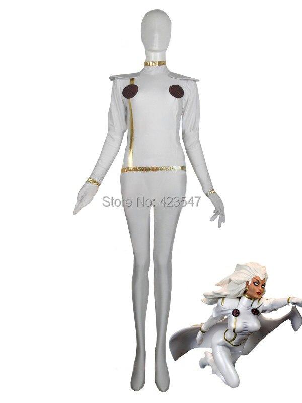 X-men White Storm Woman Superhero Costume  Halloween costume