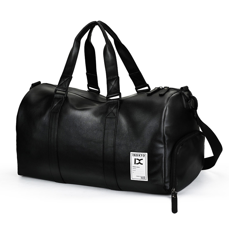 New Classic Couple Travel Bag High Quality Men Big Capacity Travel Totes PU Leather Duffle Bags Black Travel Male Hand Luggage