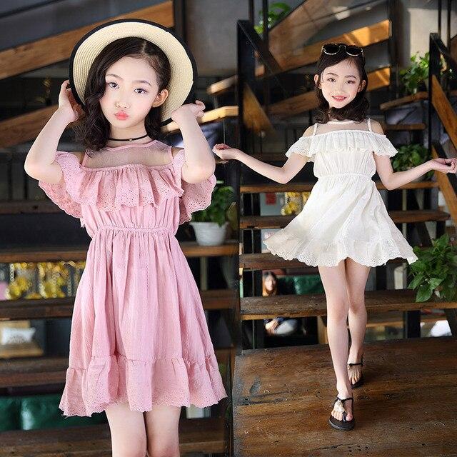 2018 New Girls Dresses Summer Baby Girl Princess Dress For Party Kids Cute  Evening Dresses For Girls 2-14Y Children Clothing 6de29e4aba0f