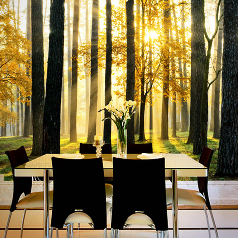 Forest Non-woven Straw Wallpaper Custom Large Wall Painting Living Room Sofa Bedroom TV Background Photo Wallpaper For Walls 3D