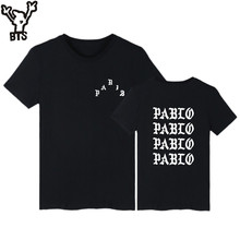 BTS I Feel Like Pablo Short Sleeve Tee Shirts Fashion Skateboard Funny Tshirt Men Casual Hip Hop Streetwear Summer T-shirt Men