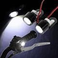 1 Par de la Alta Calidad de La Motocicleta Led del Flash del Estroboscópico Luz de Advertencia de Freno Luz Focos Lámpara Lente de Ojo de Pescado Blanco