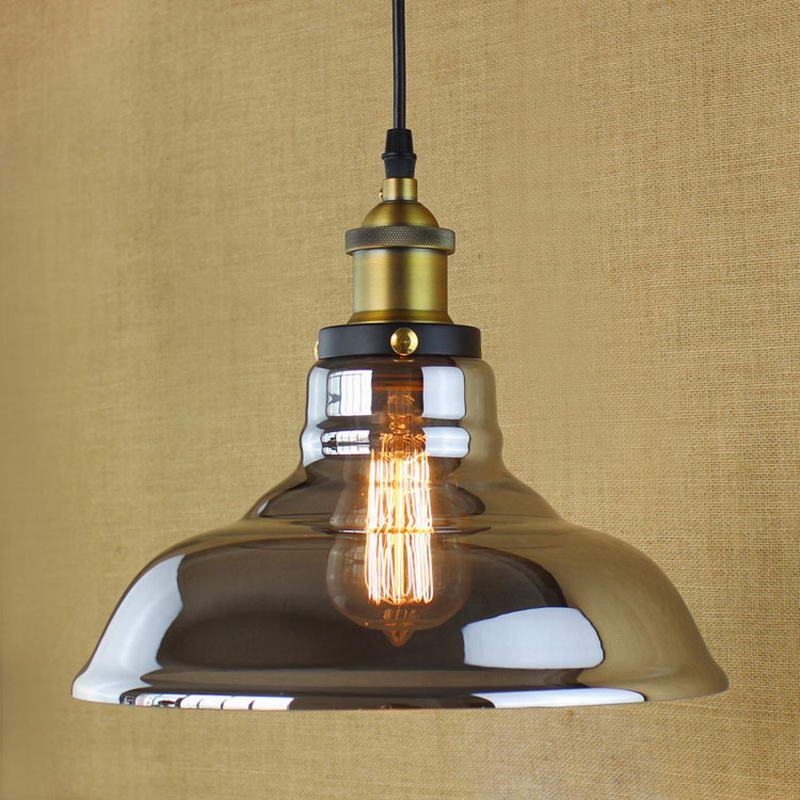 ФОТО Retro Vintage Industrial Style Edison bulb Glass pendant lighting for kitchen Restaurant Cafe Decoration E27