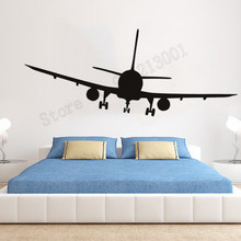 Vinyl Art Removeable Poster Passenger Plane Wall Decoration Aeroplanes Bedroom Room Sticker Decal Livingroom Ornament LY656