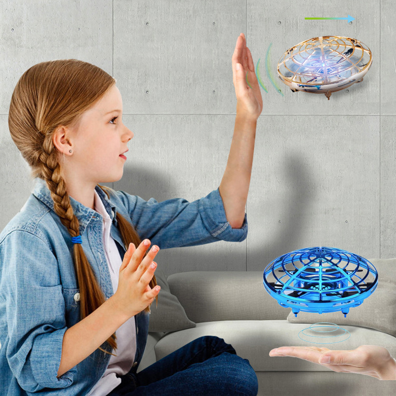 Mini Drone UFO Helicopter Flying Toy Rc Drone Induction Aircraft Quadcopter Drones Profissionais Toys For Kids Birthday Gift