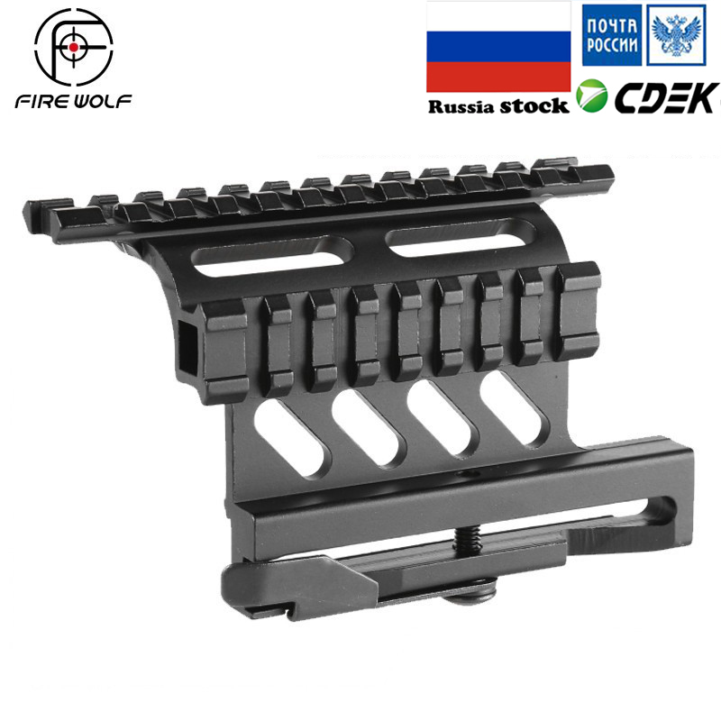 Tactical Picatinny Weaver AK Serie Side Mount Rail Quick QD 20mm picatinny Detach Double Side AK Scope Sight Mount Bracket Rifle купить в Москве 2019
