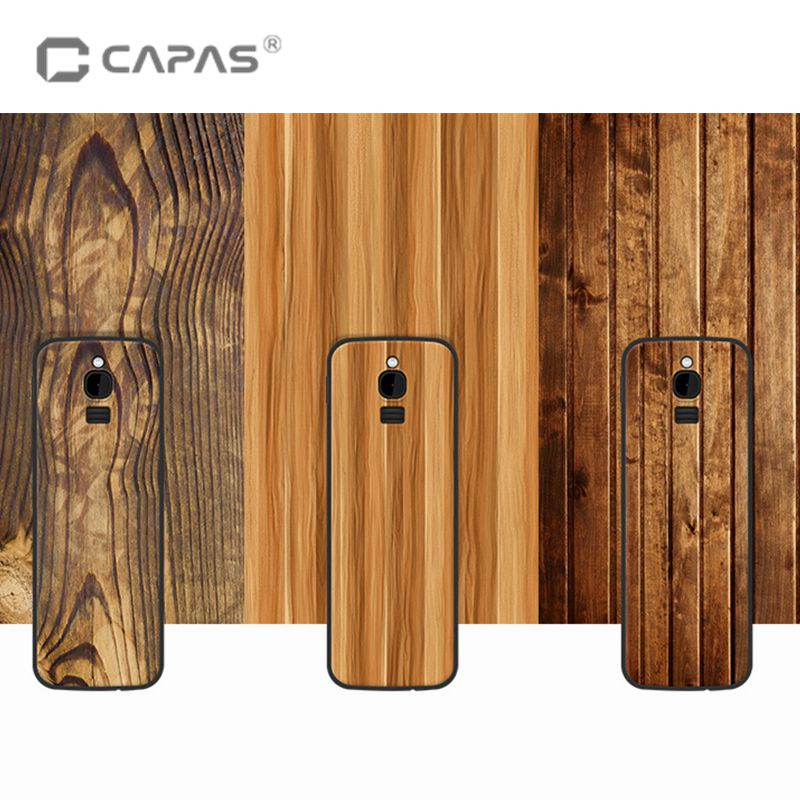 For Nokia 8110 4G Case Cover Silicone Soft TPU for Nokia 8110 4G Wood Stone Patterned Phone Case 2.4