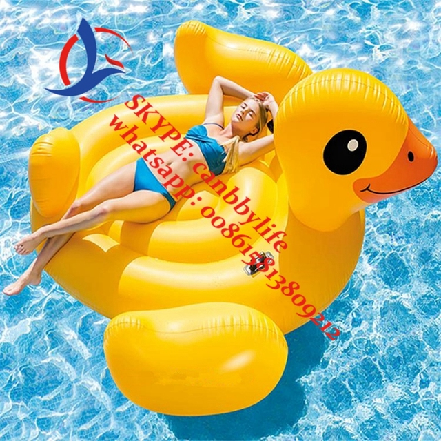 Intex yellow duck inflatable ride on inflatable pool floating duck island lounger raft for kids for Keep ducks out of swimming pool