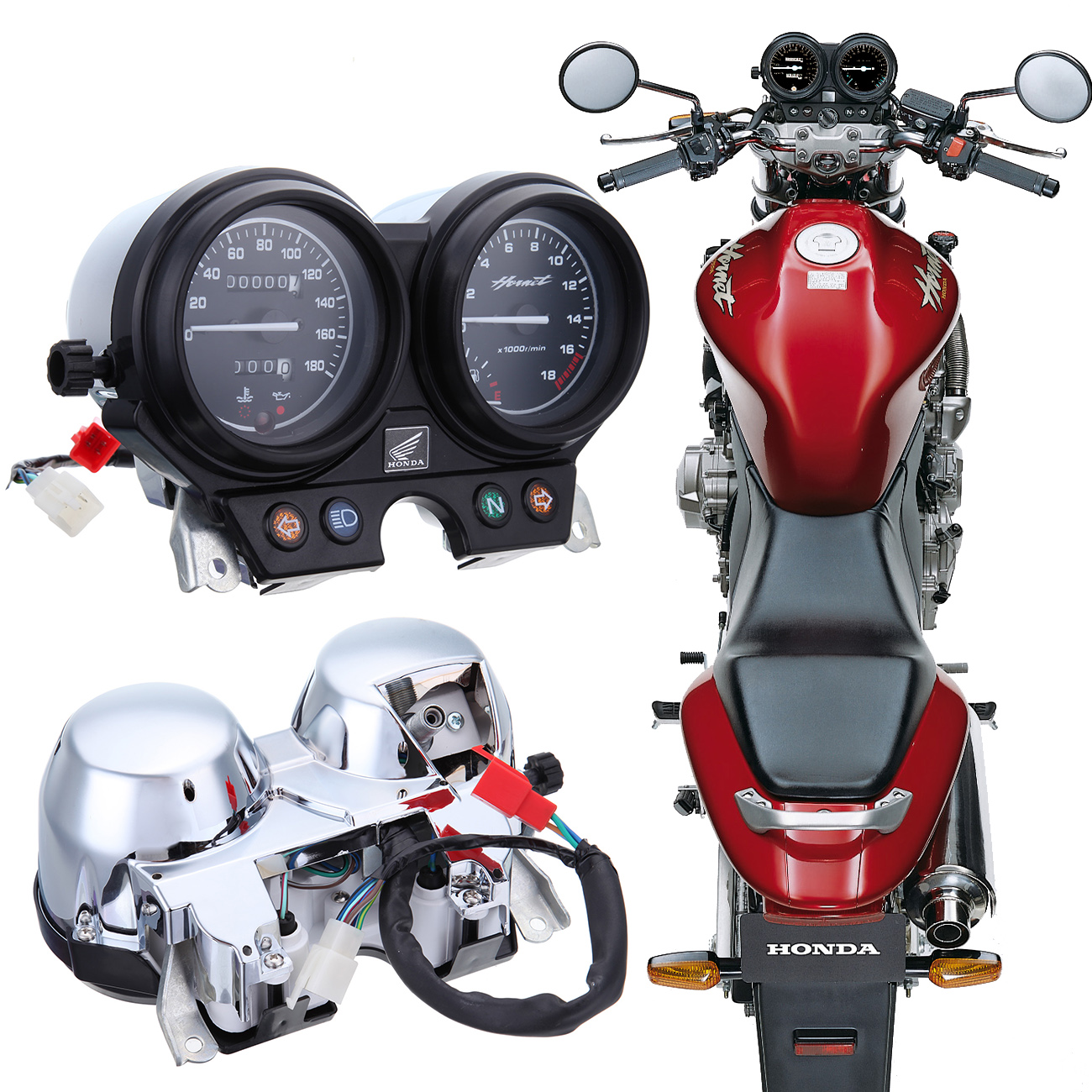 For Honda Hornet 250 2000 - 2005 2001 2002 2003 2004 2005 Motorcycle Speedometer Tachometer kilometer Gauges Kits for honda cb400 2005 2016 cb600f hornet 1998 2000 cb750 2007 motorcycle windshield windscreen pare brise black