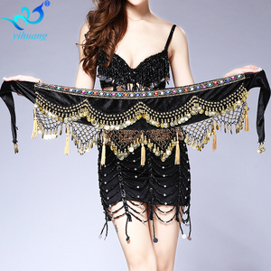 Women Belly Dance Costume Hip Scarf Performance for Oriental Belly Dancing Halloween Party Skirt Indian Bollywood Costume Belt(China)