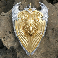 Magic Beast Film Union Lion King Shield Brand King Lai Okay Lion Pu Prop Magic Beast World Periphery Toys
