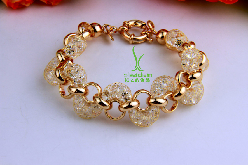 Luxury Champagne Gold Chain Bracelet | Indian Jewellery