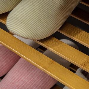 Image 5 - Magic union porta sapato banco de madeira maciça de duas camadas sapato armário minimalista moderno assento sofá fezes sapato rack de armazenamento fezes