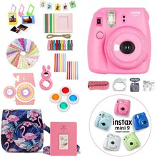 Kit-Bag-Case-Protector Instant-Camera Mini 9 Accessory 5-Colors Fujifilm Sticker Frame