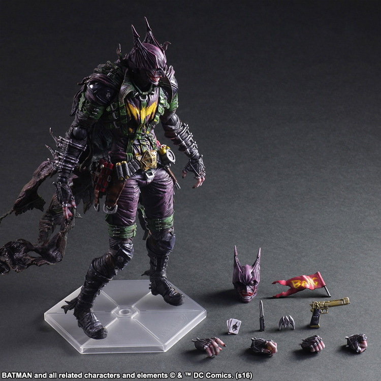 QICSYXJ High Quality Birthday Gift Supply 26cm PA Joker Batman Action Figure DC Super Hero Joker Cosplay Batman Model Doll neca dc comics batman arkham origins super hero 1 4 scale action figure