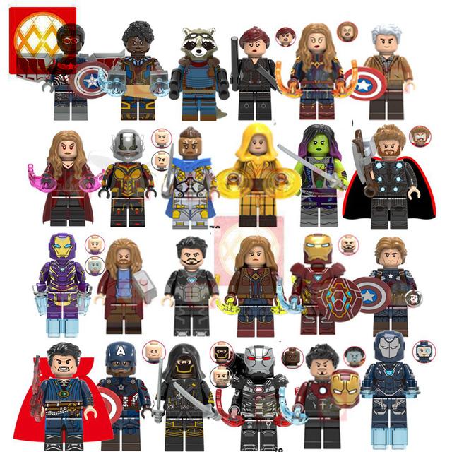 Marvel Endgame End Game Doctor Strange Ancient One Hawkeye Pepper Captain America Super Hero Gamora Antman Building Blocks Toys