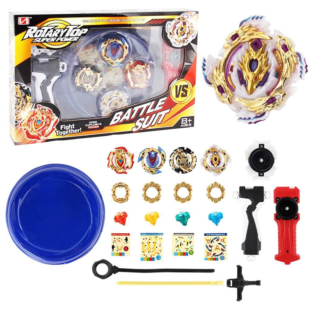 Tops 12 Unidades Beyblade Arena Spinning Top Metal lucha Bey blade de fusión metálica Bayblade estadio regalos para los niños juguete clásico para niño