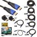 Full HD 1080 P Cable Trenzado HDMI HDMI Macho a HDMI Famale adaptador 4 k 3D Cable para PS3 Xbox HDTV Proyector de Ordenador portátil Cable