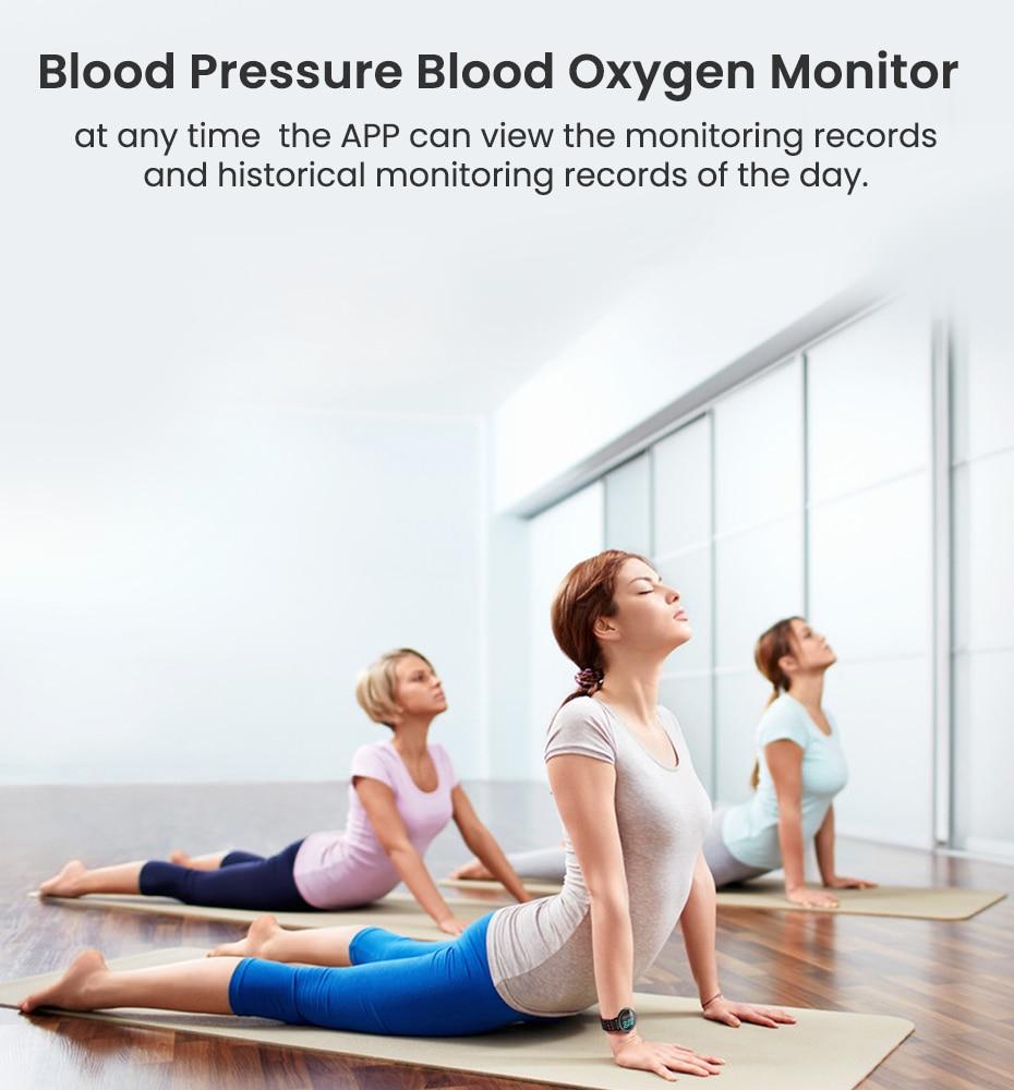Makibes T3 IOS Android Smart Watches Men Women HR Blood Oxygen Blood Pressure IP67 Waterproof Activity Fitness Tracker PKV11 10